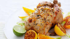 Helstekt kylling med sitron og appelsinfyll