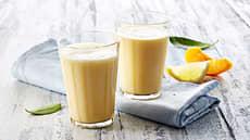 Ferskenmilkshake med sitron