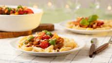 Tomatbakt italiensk ytrefilet med pasta