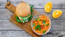 Gulrot- og appelsinsalat