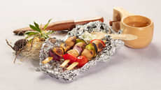 Kjøttboller på spyd med tzatziki