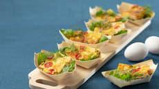 Omelett med salat