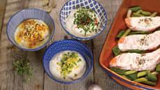 Tre forskjellige yoghurtmarinader til laks