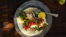 Burritos med hjemmelaget kjøttsaus