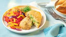 Rødspette med ovnsbakte grønnsaker