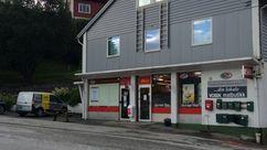 Fasade Nærbutikken Dyrdal Haugamoen