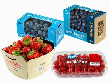 Jordbær/blåbær/bringebær