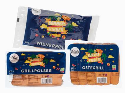 Wiener-/grillpølser/ostegrill