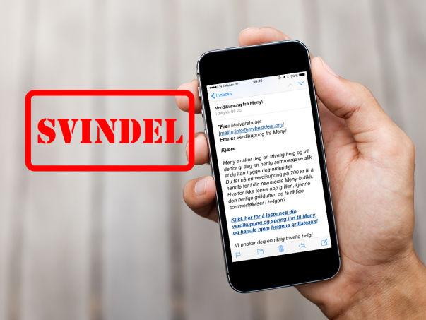 Vær oppmerksom på e-post svindel