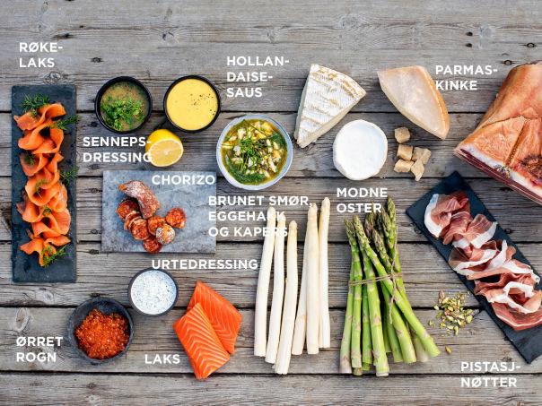 Godt tilbehør til asparges