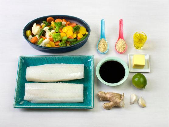 Ingredienser. Teriyakisaus kan byttes ut med soyasaus eller valgfri woksaus. Server gjerne med ris.
