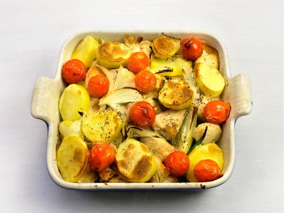 Stek i ovnen på 225 °C i ca. 15 min, og server.