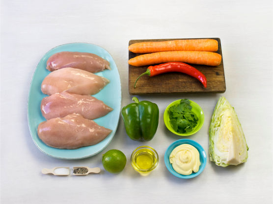 Ekstra frisk og mør kyllingrett som smaker fortreffelig! Mellom to skiver godt brød blir dette en ekstra flott sandwich. Server gjerne med ris og guacomole
