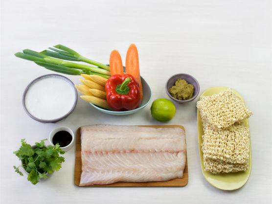 Rask thaimat som smaker fortreffelig! Bytt gjerne ut sei med breiflabb eller scampi.