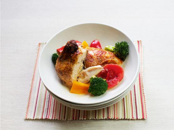 God og enkel gryte med kylling og fløte.