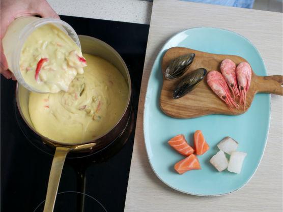 Varm suppen til kokepunktet