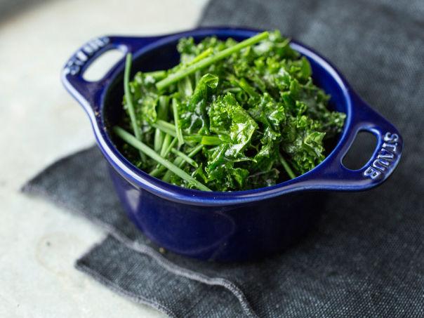 Smørdampet grønnkål