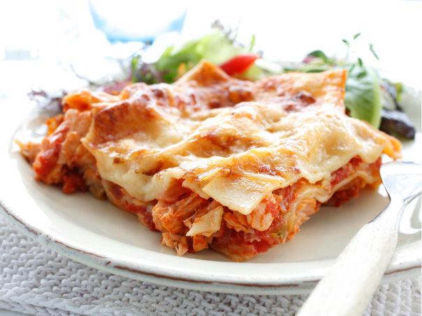 Lasagne med laks