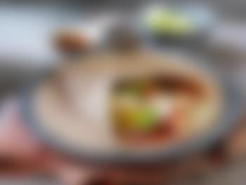 Kyllingfilet i wrap med BBQ saus