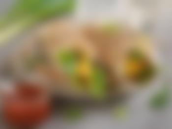 Frokostburrito med eggerøre og kjøttdeig
