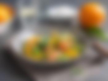 Salat med laks, appelsin og avokado