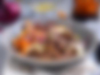 Biffsnadder med søtpotetfries og bearnaise