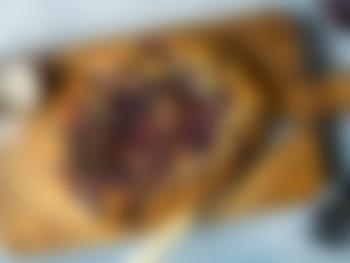 Focaccia med druer og fennikelsukker