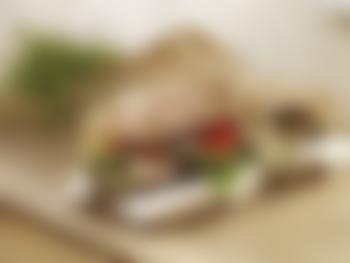 Sandwich med lune grønnsaker