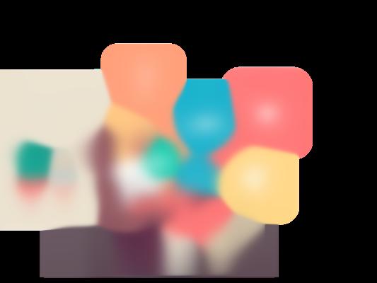 Illustrasjon av dame som sitter i stol med masse bobler med Trumf-fordeler rundt seg