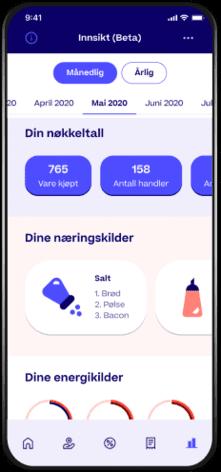 Skjermbilde fra Trumf-appen som viser tjenesten for innsikt