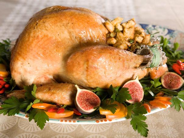 Thanksgivingkalkun med løk- og selleristuffing