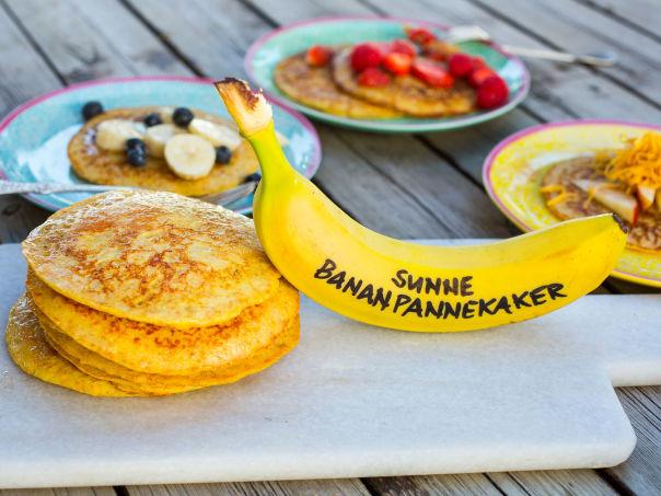 Grove bananpannekaker