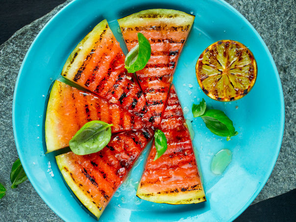 Grillet vannmelon med lime