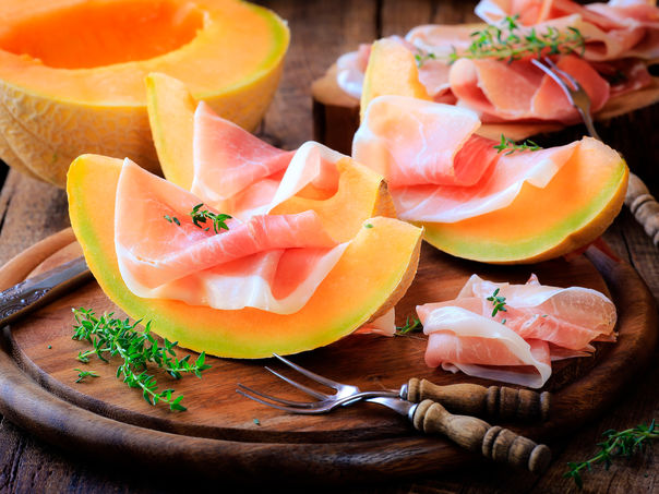 Spekeskinke og melon