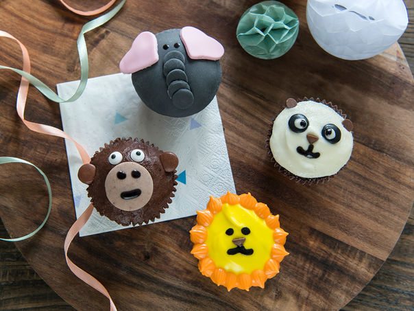 Jungeldyr cupcakes