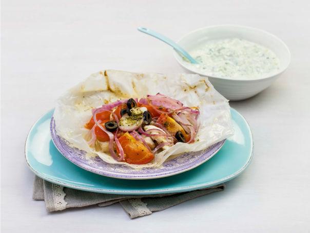 Kyllingpakke med tzatziki