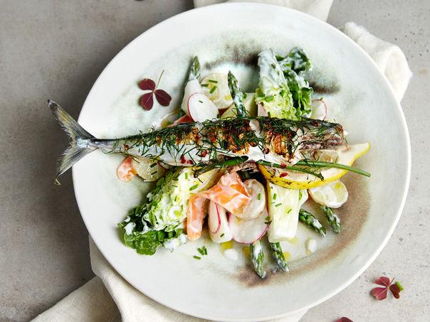 Grillet makrell