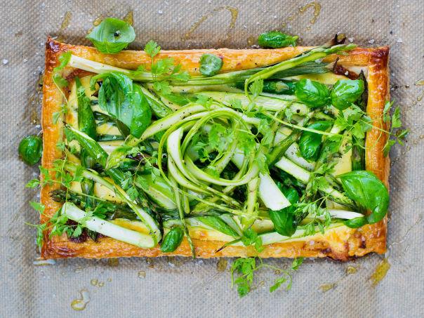 Asparges- og vårløkterte