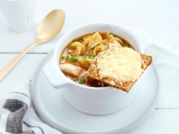 Fransk løksuppe med kalkun