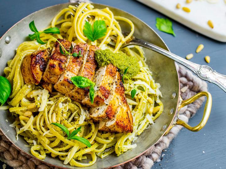 pasta kylling oppskrift