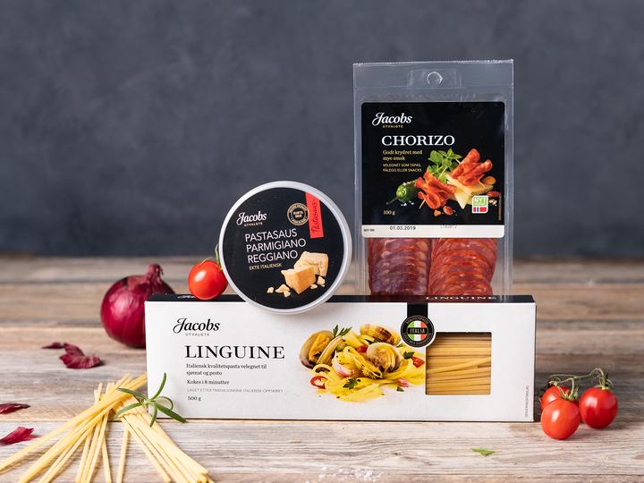 Linguine er en italiensk kvalitetspasta velegnet til sjømat og pesto.