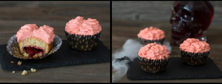 Gjør cupcakene enda mer skumle ved å lage en blodig kjerne