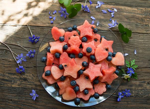 Dette er en sunn, god og annerledes vannmelonsnack som også er fin å se på.