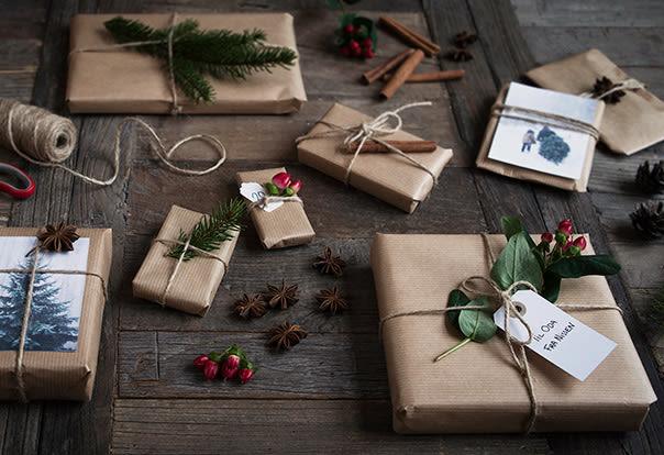 Fin innpakning skaper julestemning.
