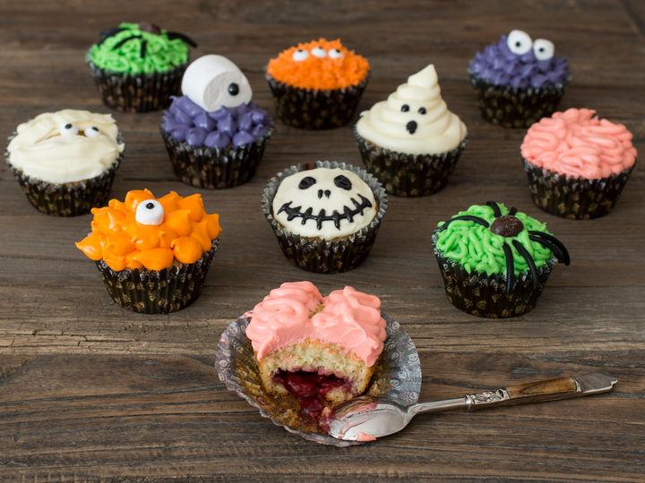 Kjempekule cupcakes til Halloween
