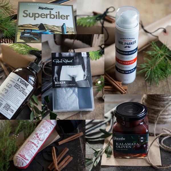 Spesialøl, julemarsipan, barberskum, boxer eller kanskje spekepølse? Vi har masse å velge i til herrene.
