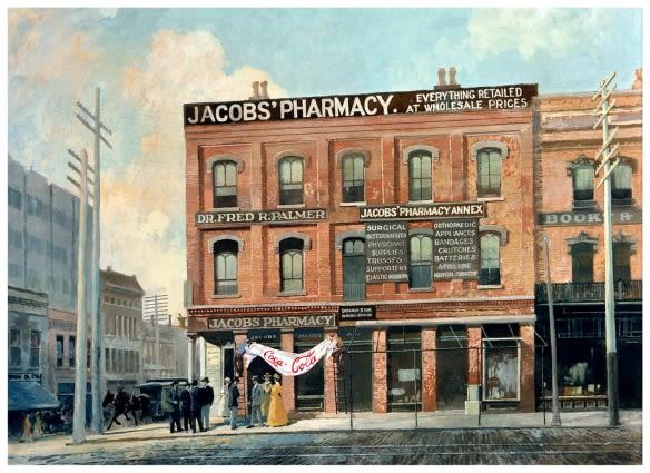 Coca-Cola ble først solgt som en oppkvikkende kur mot hodepine på et apotek i Atlanta.