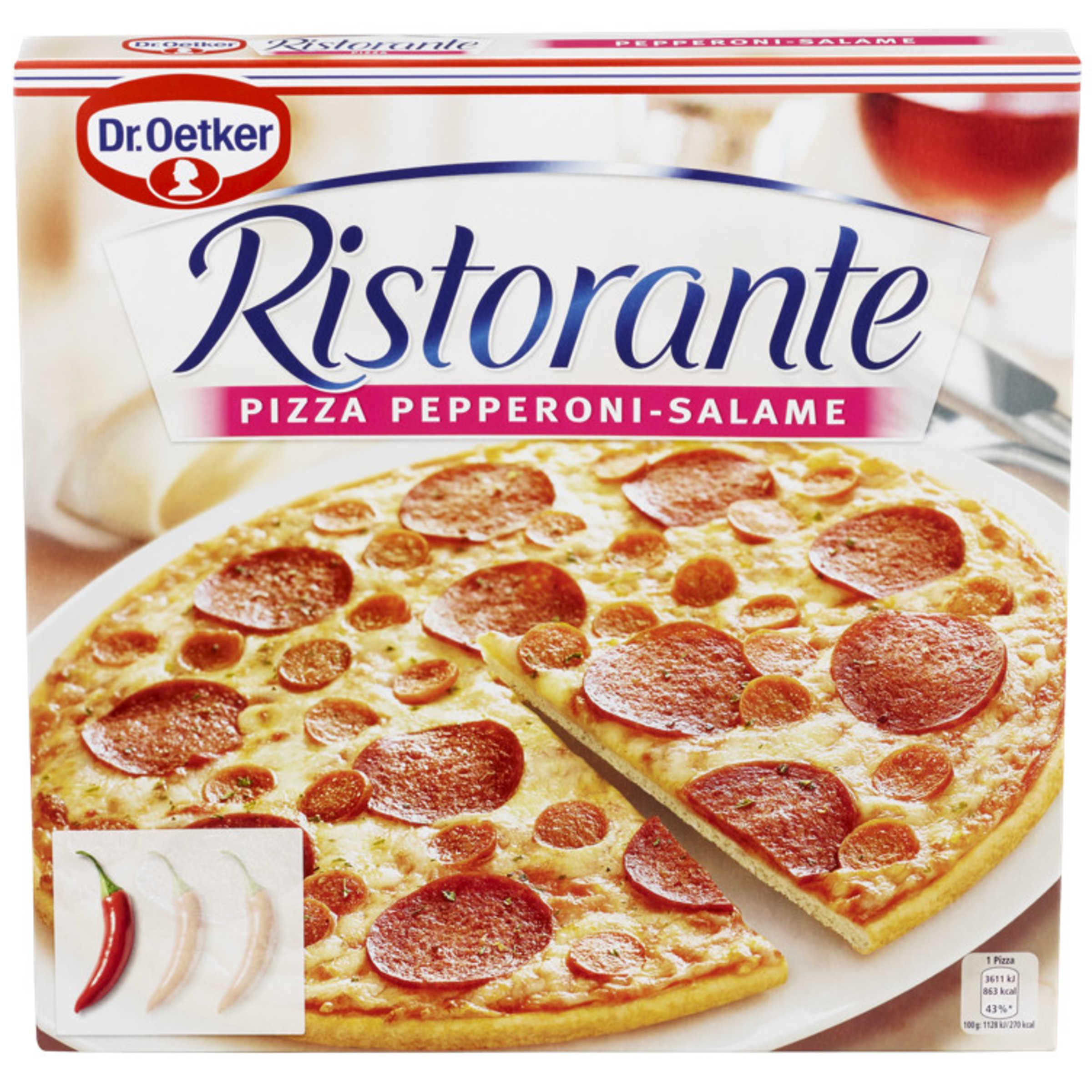 Ristorante Pizza - Pepperoni/Salame 320g Dr.Oetker | Meny.no