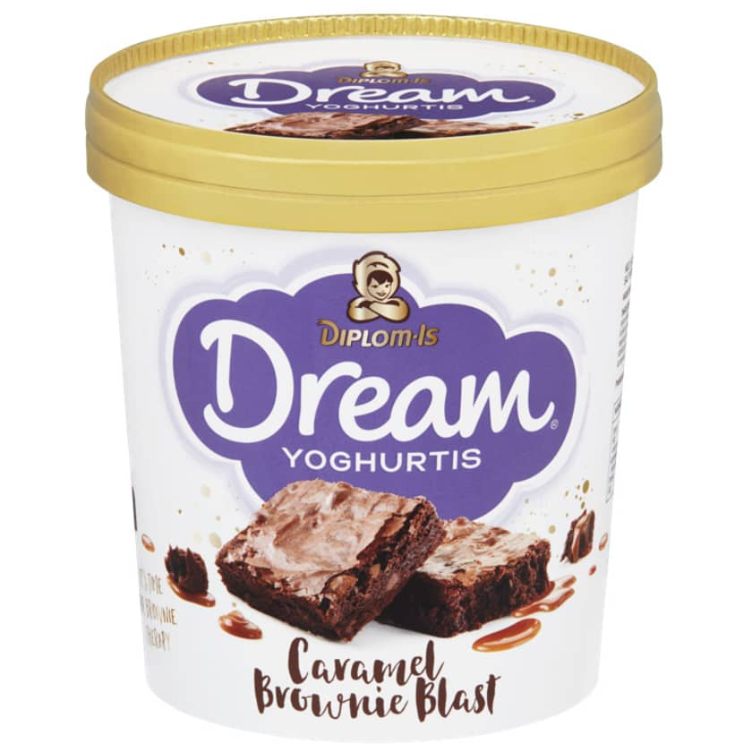 Dream Yoghurtis Caramel Brownie 0 8l Diplom Is Meny No