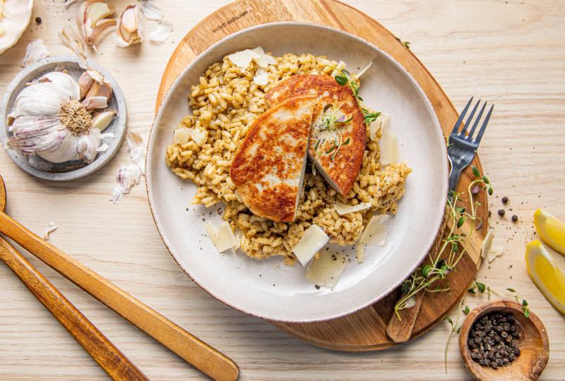 Fiskeburger med risotto